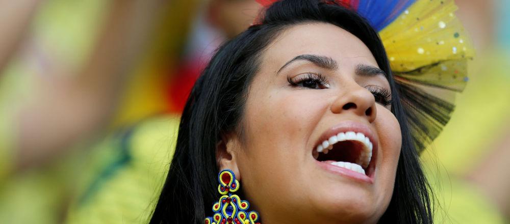 Hincha de la selección de Colombia en el partido contra Paraguay en la Copa América