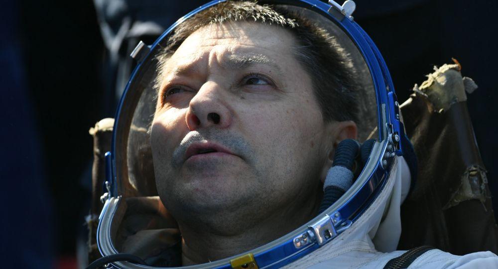 Oleg Kononenko, a su regreso de la EEI