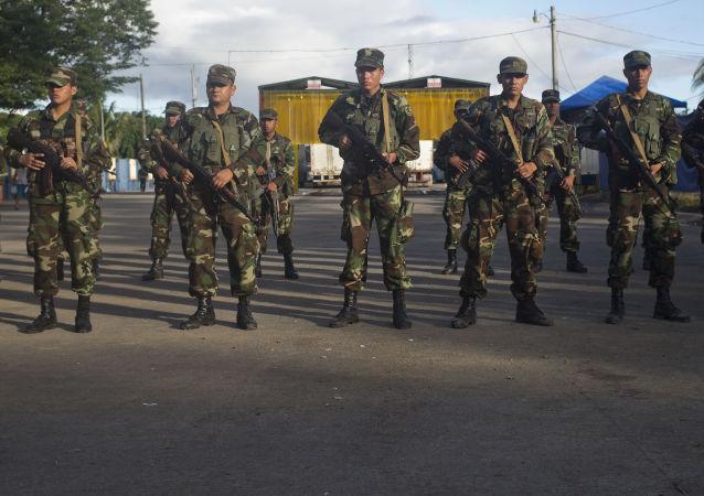 Soldados de Nicaragua