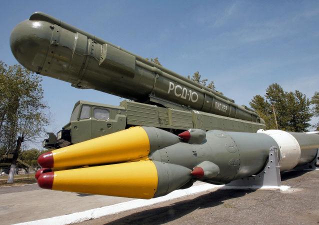 Un cohete de Medio Alcance Pioner (imagen referencial)