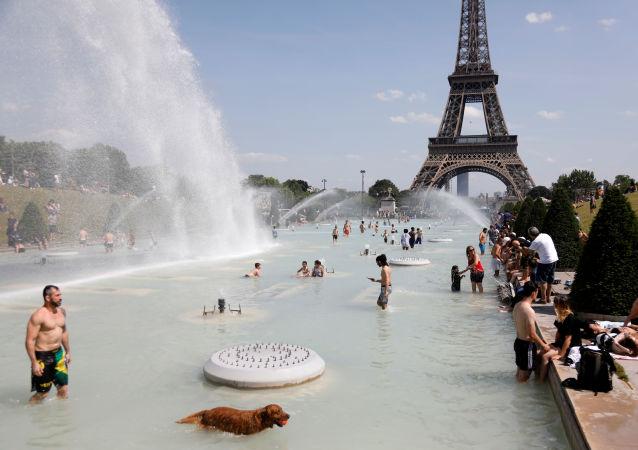 La ola de calor en Francia