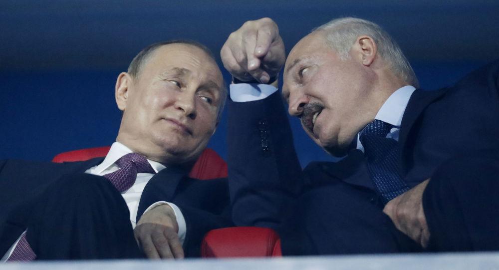 Vladímir Putin, el presidente de Rusia y Alexandr Lukashenko, el presidente de Bielorrusia