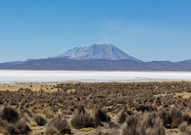 El volcán Ubinas, Perú