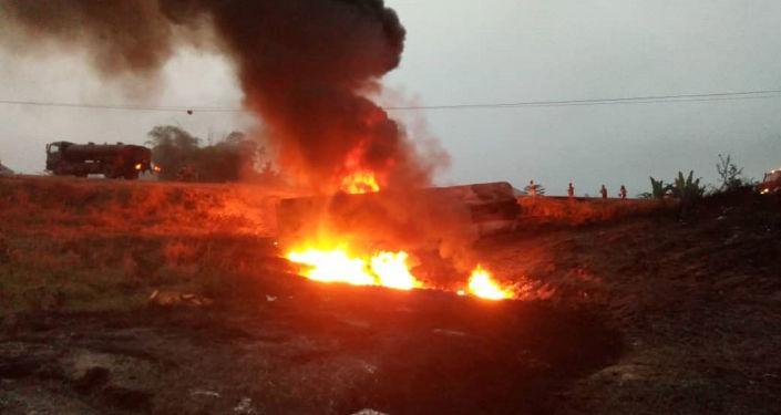 Explosión de un camión cisterna en Nigeria (archivo)