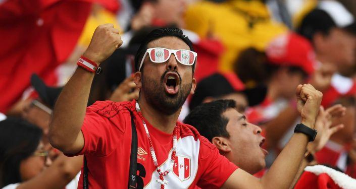 Hincha de la selección de fútbol de Perú (archivo)