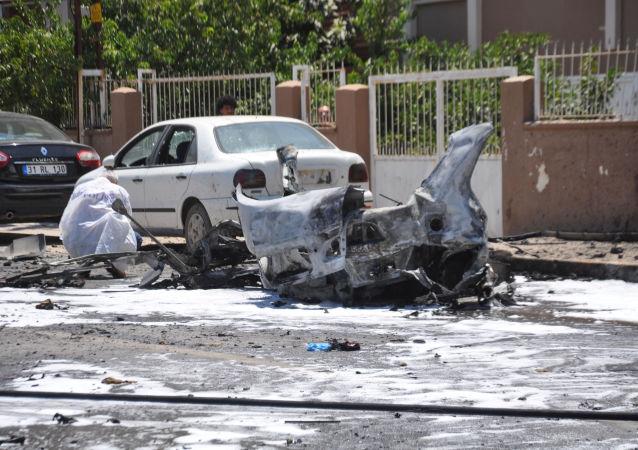 El coche bomba que se estalló en Reyhanli, Turquía