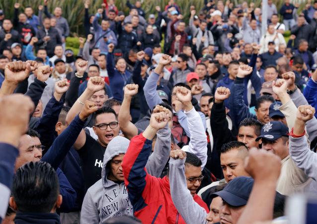 Policías federales protestan contra cambio a Guardia Nacional en la Ciudad de México