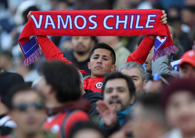 Los hinchas chilenos