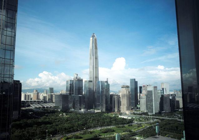 Un rascacielos chino, referencial