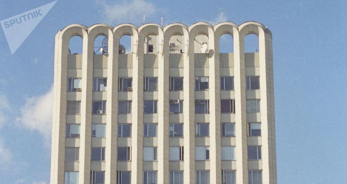La sede de la televisión georgiana Rustavi 2 (Archivo)