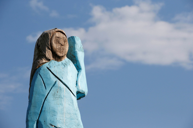 La estatua de Melania Trump en Eslovenia