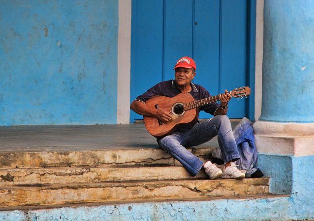 Trovador en las calles de Cuba