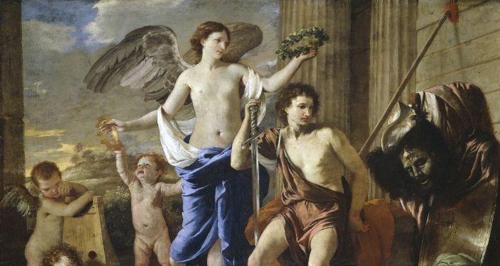 El Triunfo de David, obra de Nicolas Poussin