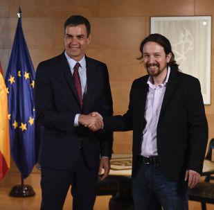 Pedro Sánchez, presidente del Gobierno de España, y Pablo Iglesias, líder de Podemos