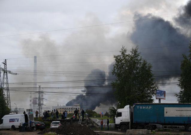 Incendio en una planta termoeléctrica en Moscú