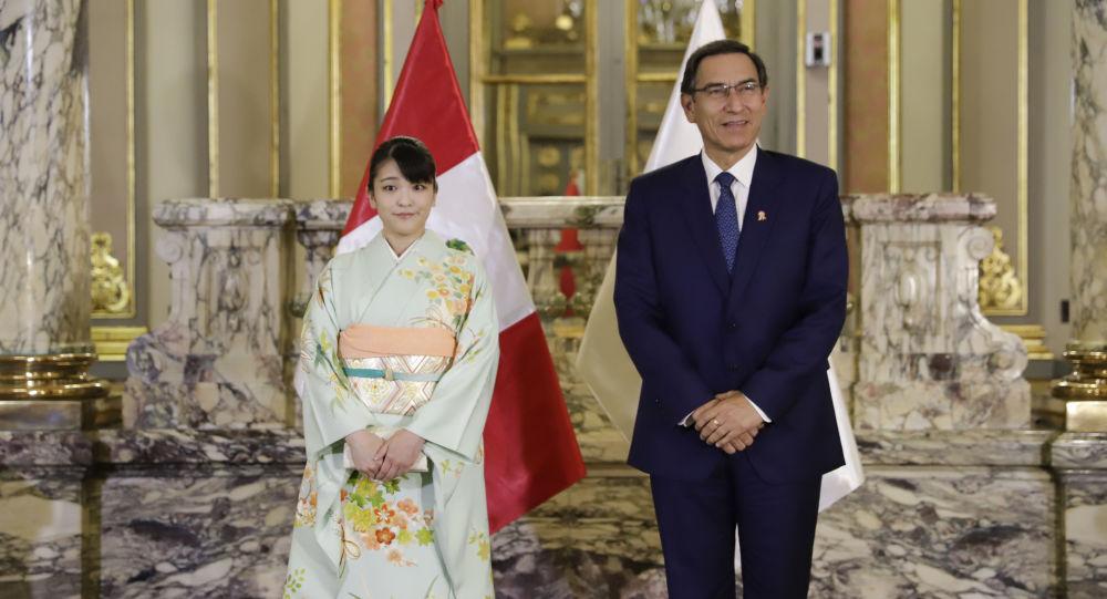 Presidente Martín Vizcarra recibe en palacio de gobierno a princesa Mako de Japón