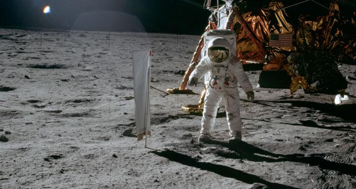 El astronauta Edwin E. Aldrin en la Luna, el 20 de julio de 1969