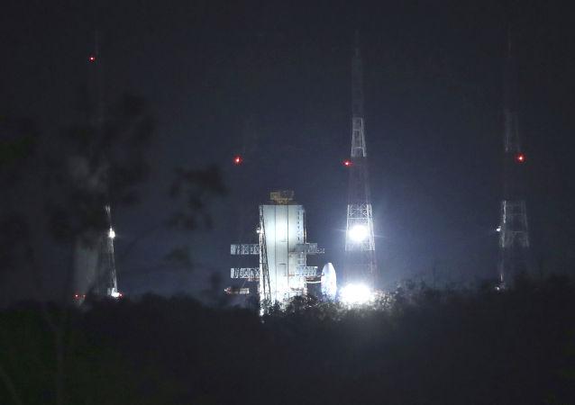 Lanzamiento de la misión lunar india Chandrayaan 2