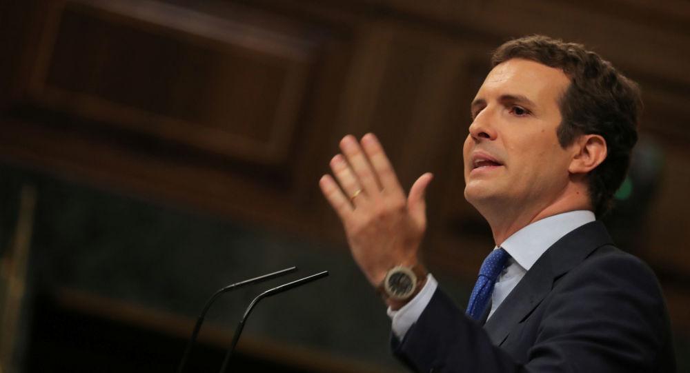 Pablo Casado, líder del Partido Popular y jefe de la oposición española
