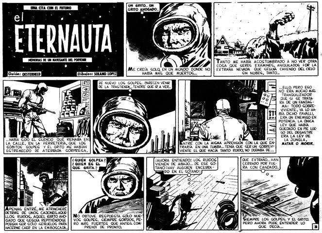 Fragmento de 'El eternauta' de Héctor Germán Oesterfeld y Francisco Solano López