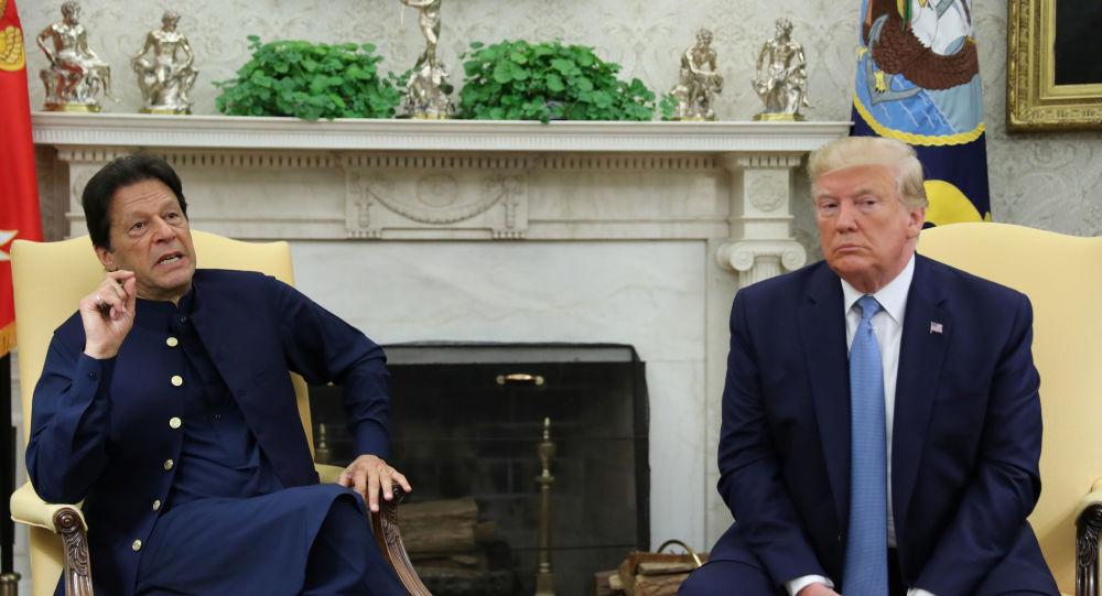 El presidente de EEUU, Donald Trump, y el primer ministro de Pakistán, Imran Khan