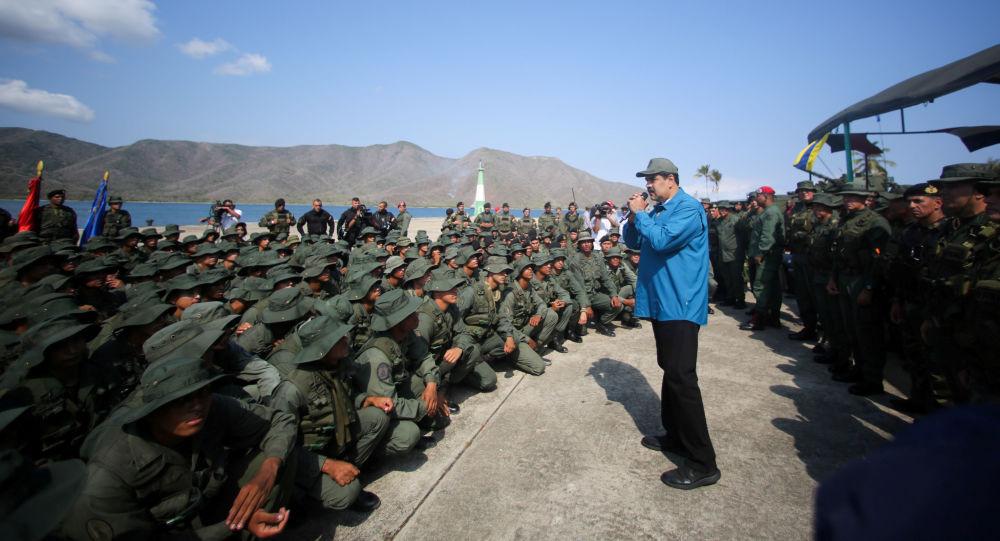 Nicolás Maduro, presidente de Venezuela, durante los ejercicios militares (archivo)