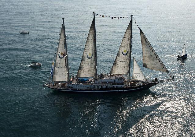 El buque escuela Capitán Miranda de la Armada de Uruguay