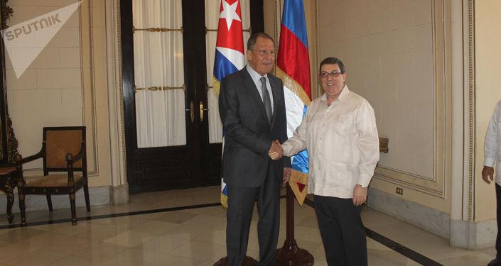 El canciller ruso, Serguéi Lavrov, y su par cubano Bruno Rodríguez