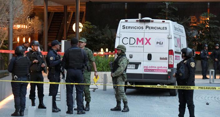 El lugar del asesinato de dos israelíes en Ciudad de México