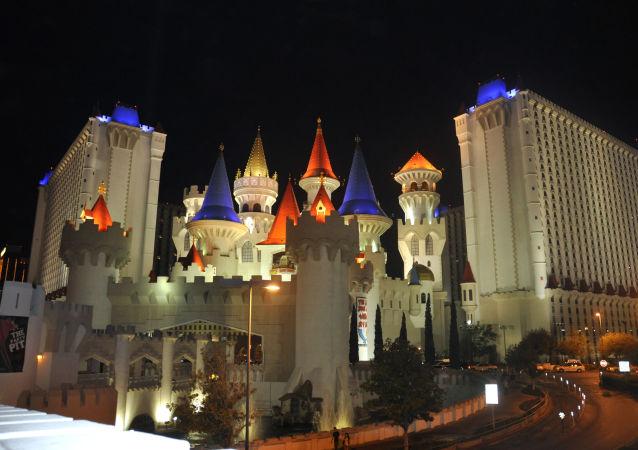 El hotel y casino Excalibur en Las Vegas (EEUU)