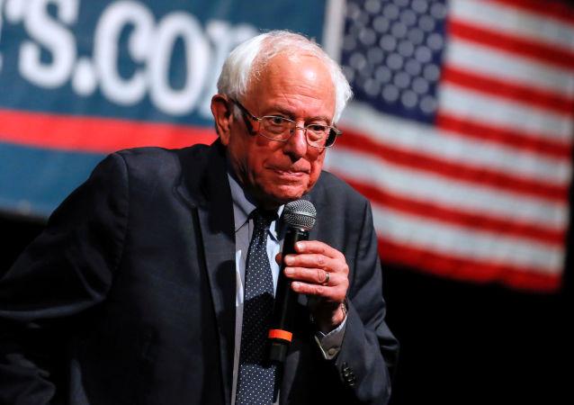 Bernie Sanders, político estadounidense, durante su camapaña presidencial para 2020 en Los Angeles, el 25 de julio de 2019
