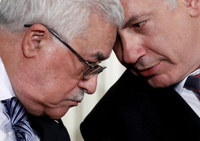 Mahmoud Abbas, presidente de Palestina, y Benjamin Netanyahu, primer ministro israelí (archivo)