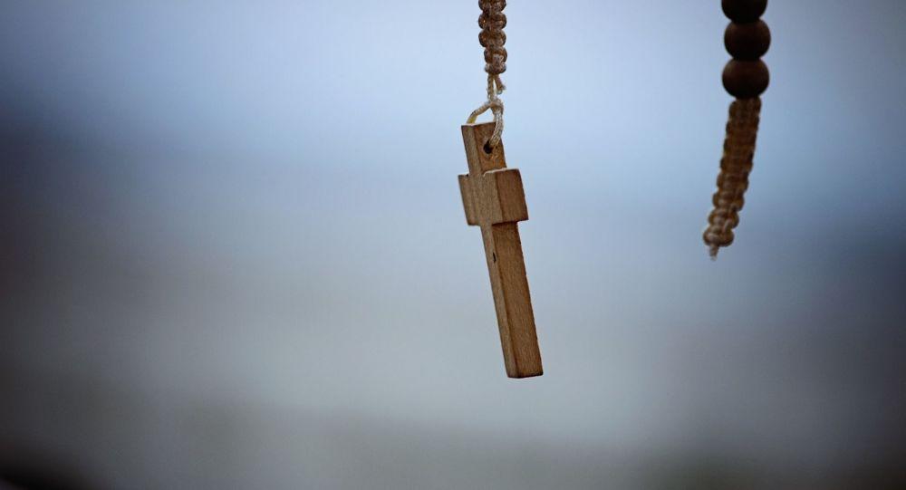 Una cruz católica. Imagen referencial
