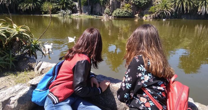 En el Parque Rodó de la capital uruguaya