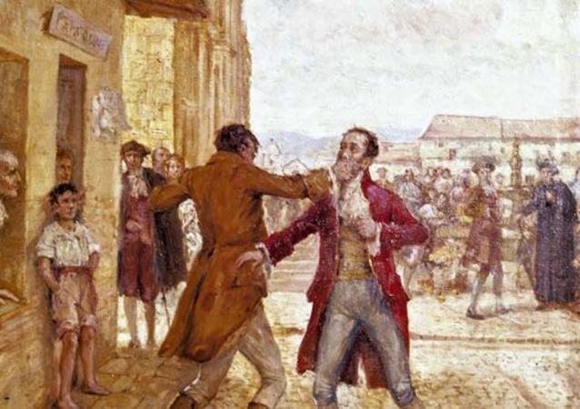 Pelea entre Luis de Rubio y José González Llorente