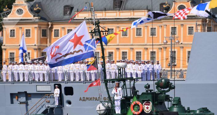 El desfile con motivo del Día de la Armada de Rusia en San Petersburgo