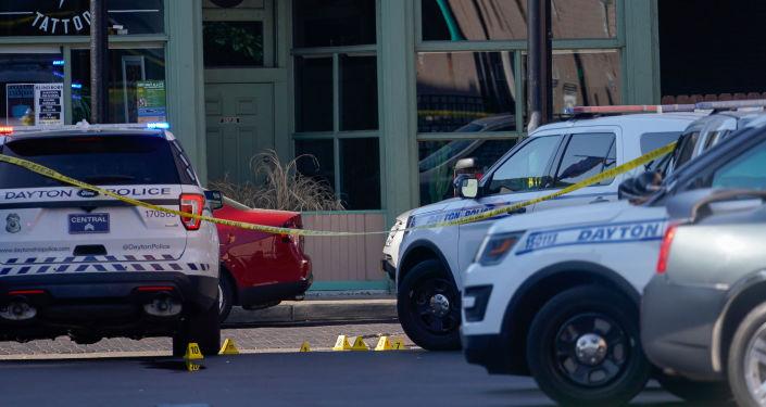 Lugar del tiroteo en Dayton, Ohio
