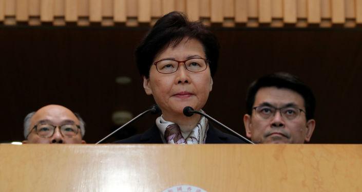 Carrie Lam, jefa del Ejecutivo de Hong Kong
