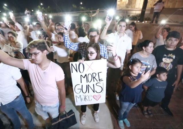 Ciudad Juárez rinde homenaje a las víctimas del tiroteo en El Paso