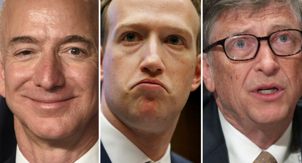 Jeff Bezos, Mark Zuckerberg y Bill Gates