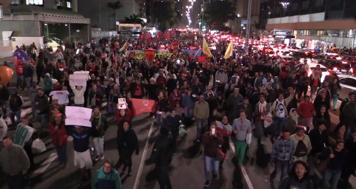 Dictadura nunca más: rechazo a Bolsonaro en Sao Paulo