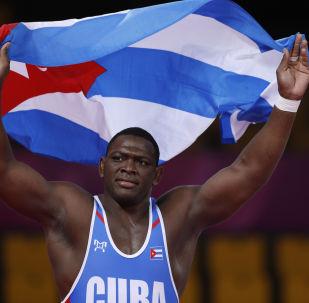 Mijaín López, luchador cubano