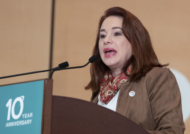 María Fernanda Espinosa, presidenta de la Asamblea General de Naciones Unidas