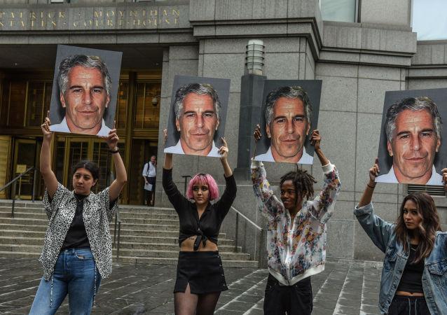Los retratos de Jeffrey Epstein, multimillonario estadounidense