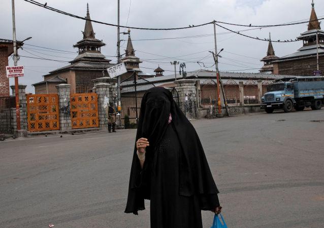 Una mujer musulmana en Cachemira