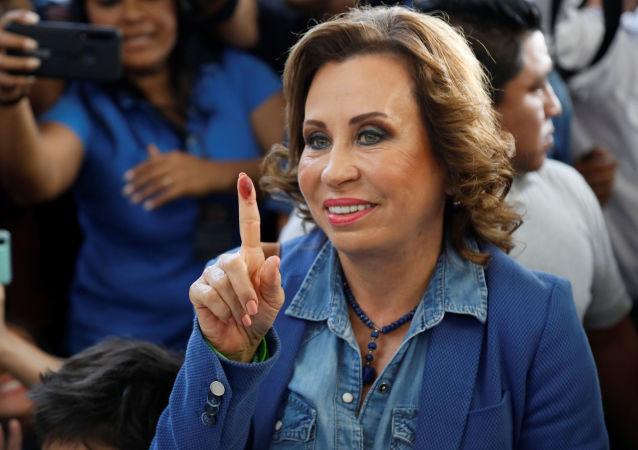 Sandra Torres, la candidata presidencial en Guatemala