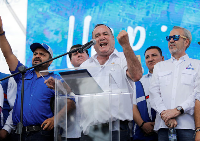 Alejandro Giammattei, candidato presidencial de Guatemala