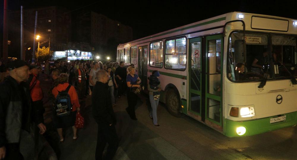 Evacuación de la gente en Áchinsk