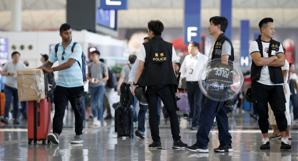 El aeropuerto de Hong Kong