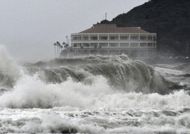 Un tifón en Japón (archivo)